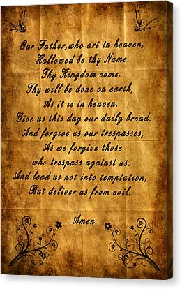 Prayer Canvas Print by Cecil Fuselier