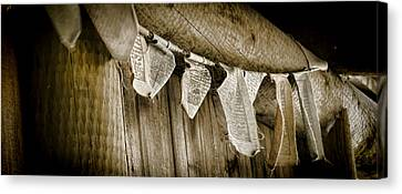 Tibetan Buddhism Canvas Print - Prayer Flags by Heather Applegate