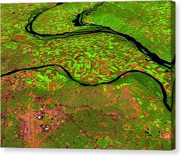 Pre-flood Rivers Canvas Print by Nasagoddard Space Flight Center