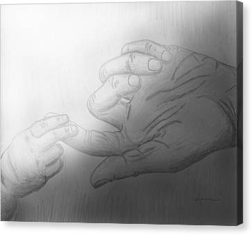 Precious Touch Canvas Print by Kume Bryant