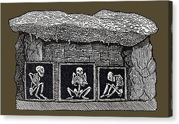 Prehistoric Tomb, Sweden Canvas Print by Sheila Terry