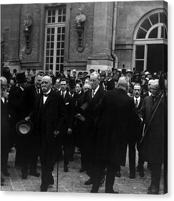 The Treaty Of Versailles Canvas Print - Premier Georges Clemenceau, President by Everett