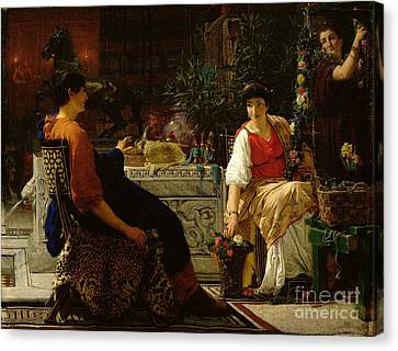 Preparations For The Festivities Canvas Print by Sir Lawrence Alma-Tadema