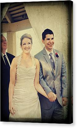 Presenting The Newlyweds Canvas Print by Laurie Search