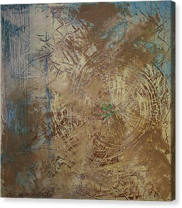Preserve The Blue Gold Canvas Print by Jan Swaren