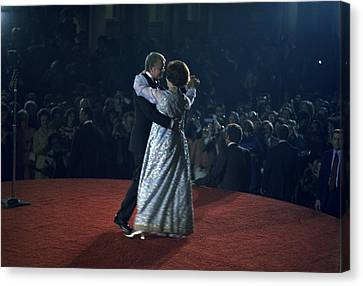 President And Rosalynn Carter Dancing Canvas Print