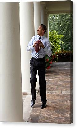President Barack Obama Prepares Canvas Print by Everett