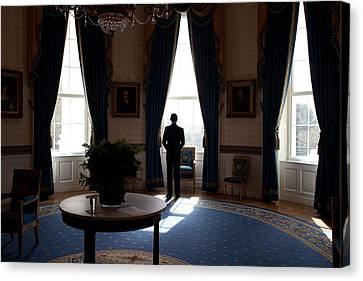 President Barack Obama The Day Canvas Print by Everett