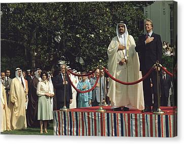 President Carter And Prince Fahd Bin Canvas Print by Everett