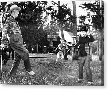 President Eisenhower Adds A Little Body Canvas Print by Everett