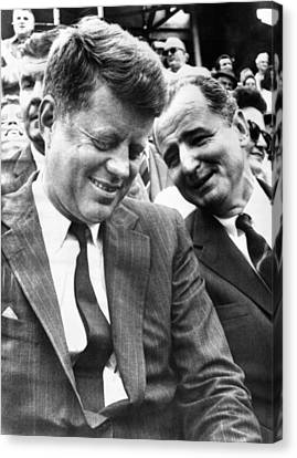 Americans Elect Canvas Print - President-elect John Kennedy And Sen by Everett