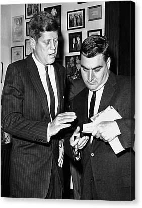 Americans Elect Canvas Print - President-elect John Kennedy Confers by Everett
