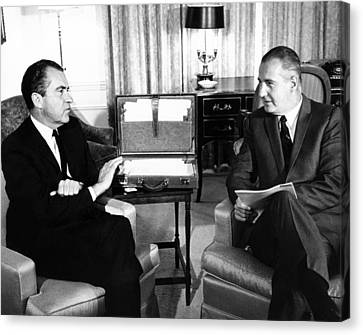 Americans Elect Canvas Print - President-elect Nixon Meets With Vice by Everett