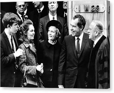 Americans Elect Canvas Print - President-elect Richard Nixon by Everett
