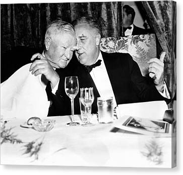President Franklin Roosevelt And Vp Canvas Print by Everett