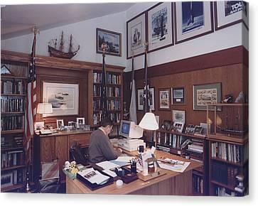 President George Bush Works Canvas Print by Everett