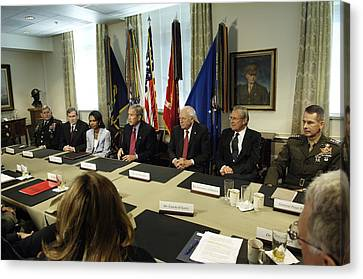 President George W. Bush And Members Canvas Print by Everett