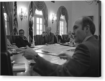 President Gerald Ford And National Canvas Print by Everett