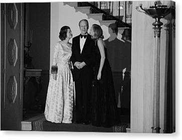 President Gerald Ford Betty Ford Canvas Print by Everett