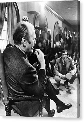 President Gerald Ford Meets Canvas Print by Everett
