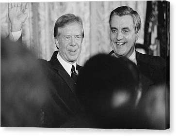 President Jimmy Carter, And Vice Canvas Print by Everett