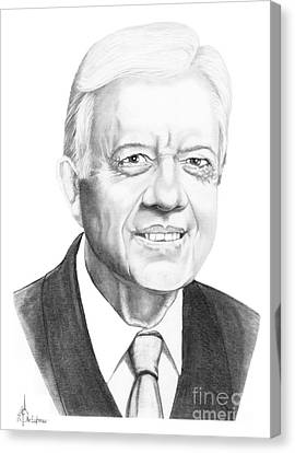 President Jimmy Carter Canvas Print by Murphy Elliott
