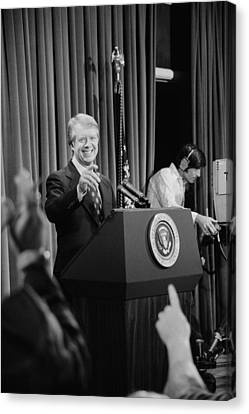 President Jimmy Carter Taking Canvas Print by Everett