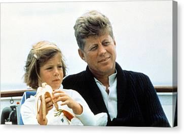President John F. Kennedy Withdaughter Canvas Print