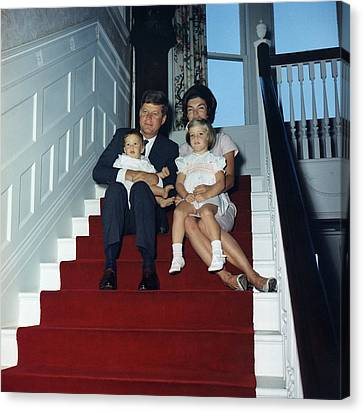 President John Kennedy And His Family Canvas Print