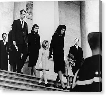 President Kennedys Family Leaves Canvas Print