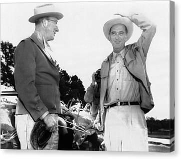 President Lyndon Johnson Entertains Canvas Print by Everett