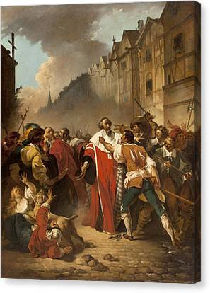 Unrest Canvas Print - President Mole Manhandled By Insurgents by Francois Andre Vincent