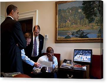 President Obama Press Secretary Robert Canvas Print