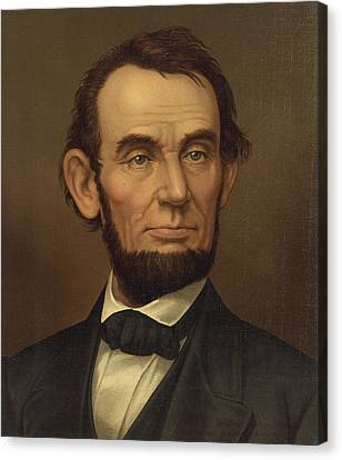 Canvas Print featuring the photograph President Of The United States Of America - Abraham Lincoln  by International  Images