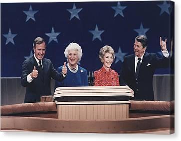 President Reagan Nancy Reagan Canvas Print by Everett