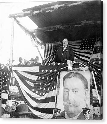 President Taft Giving A Speech In Augusta - Georgia C 1910 Canvas Print by International  Images
