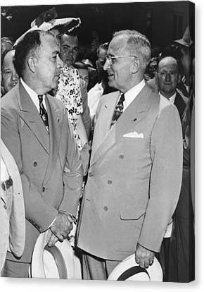 President Truman And James Pendergast Canvas Print by Everett