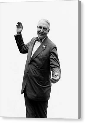 Canvas Print featuring the photograph President Warren G Harding - C 1920 by International  Images