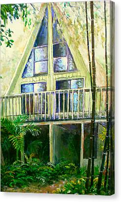 Bamboo House Canvas Print - Presley House by Lou Ann Bagnall