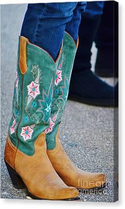 Pretty Boots Canvas Print by Lynda Dawson-Youngclaus