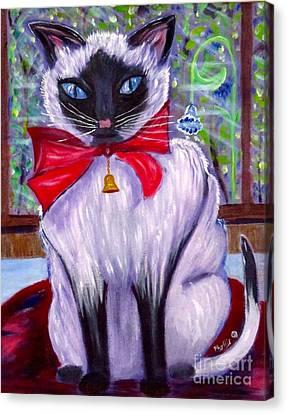 Pretty Fat Cat Canvas Print by Phyllis Kaltenbach