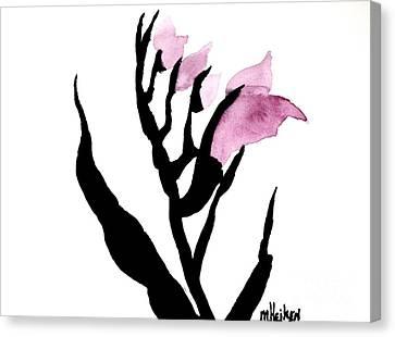 Pretty In Pink Gladiolus Canvas Print