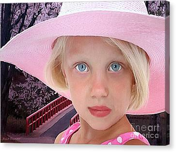 Pretty In Pink Canvas Print by Jerry L Barrett