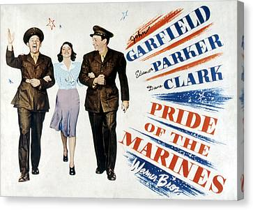 Pride Of The Marines, John Garfield Canvas Print by Everett