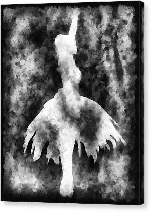 Ballerine Canvas Print - Prima 2 Muse Bw by Angelina Vick