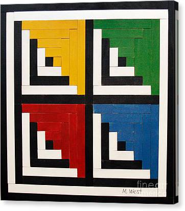 Primary Colors Canvas Print by Marilyn West