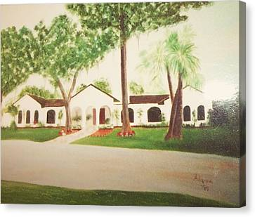 Prince Faisal's Home In Fl Canvas Print by Alanna Hug-McAnnally