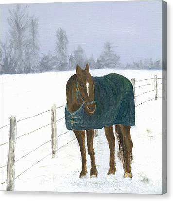 Canvas Print featuring the painting Prince by Laurel Best