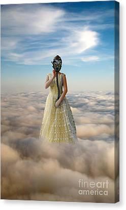Princess In Gas Mask 3 Canvas Print by Jill Battaglia