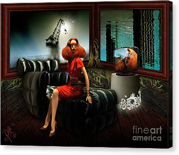 Canvas Print featuring the digital art Princess Of The River by Rosa Cobos